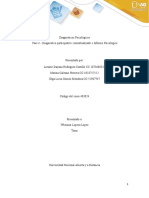 Fase 4 - Diagnóstico participativo contextualizado e Informe Psicológico