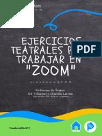 Cuadernillo N° 1 - Ejercicios Teatrales Para Trabajar en Zoom