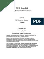 Internship Report on Muslim Commercial Bank _MCB