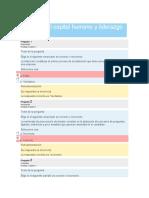 Los procesos básicos de capital humano.