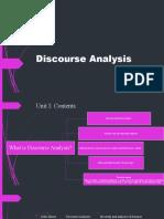 Discourse Analysis outline
