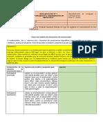 Guía aplicación N°1 Evaluar diversas formas en que se legitima el conocimiento en los discursos