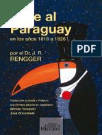 Viaje al Paraguay en los años 1818 a 1826-Johann Rudolph Rengger-INCOMPLETO