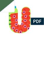decoracion de la  vocal u