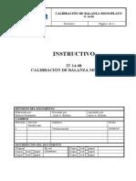 IT-14-08-r1 Calibración de balanza monoplato.doc