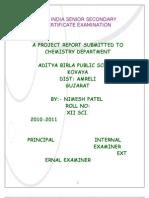 Nimesh Chemistry Project