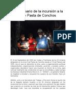 XI Aniversario de la incursión a la mina 8 de Pasta de Conchos