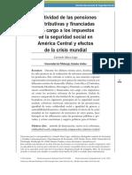 Efectividad de las pensiones contributivas y financiadas con cargo a los impuestos de la sehuridad social en america latina y el caribe