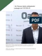 Gobernador de Oaxaca inicia aislamiento por posible contagio de COVID - copia
