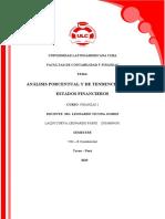 PORCENTUAL Y TENDENCIAS FINANZAS