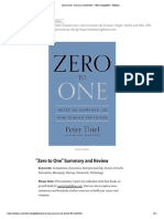 """""""Zero to One"""" Summary and Review – West Stringfellow – Medium"""