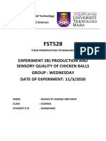 EXP2B) PRODUCTION OF CHICKEN BALLS
