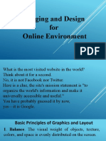 Imaging and Design For Online Environment