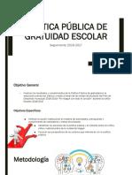 Presentación Política pública de gratuidad Escolar