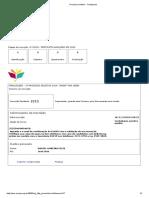 EMESP  -  Processo seletivo - Finalizacao