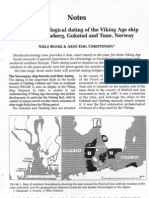 Den Do Chronological Dating of the Viking Age Ship Burials at Oseberg, Gokstad and Tune, Norway