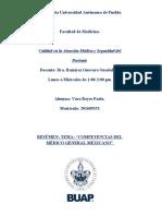 COMPETENCIAS DEL MÉDICO GENERAL EN MÉXICO