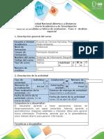 Guía de actividades y rúbrica de evaluación - Fase 4 - Análisis espacial
