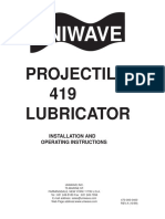 Instruction manual uniwave projectile