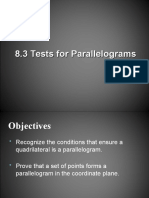 Tests for Parallelograms.ppt