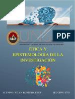 TAREA 3 - ETICA Y ESPISTEMOLOGIA DE LA INVESTIGACION
