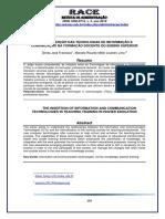1. A Inserção das Tecnologias de Informação e Comunicação na Formação Docente do Ensino Superior
