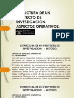 PROYECTO DE INVESTIGACION - ASPECTOS OPERATIVOS