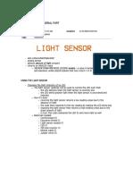 Arduino_Light Sensor and Serial Port NOTES