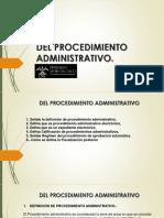 DEL PROCEDIMENTO ADMINISTRATIVO pp4