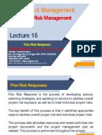 MSPM - Project Risk Management    Lecture 15 (Slides)