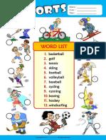 sports esl vocabulary number the pictures worksheet for kids.pdf