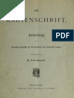 Fretwurst A. - Die Kartenschrift (1903)