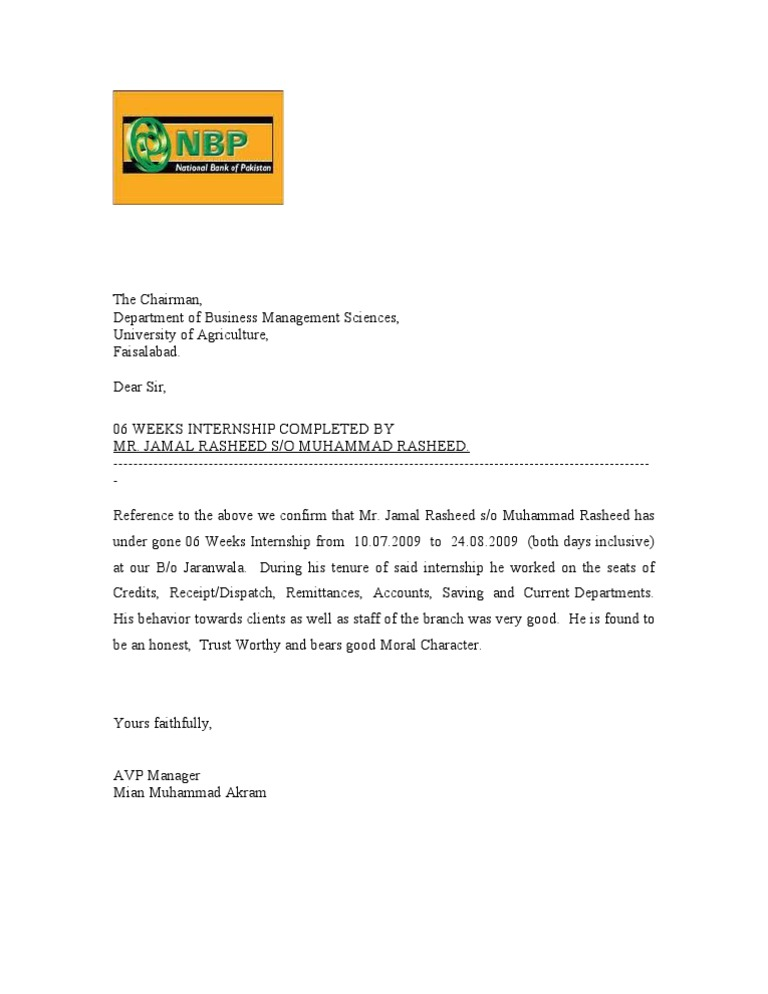 Specimen of internship letter thecheapjerseys Gallery