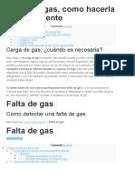 Carga de gas