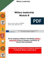 Military Leadership module B