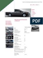 Honda Accord 2.4l 201 Cp