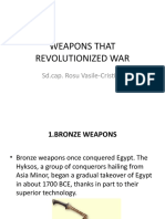 Weapons that changed the war