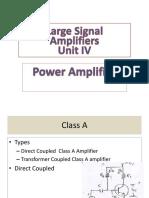 Analog Electronics Power Amplifiers