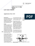 Low Noise Amplifier for 5.7 GHz Using the ATF-36077 Low Noise PHEMT (Agilent)