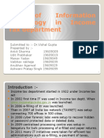Use of Information Technology in Income Tax department (ppt)
