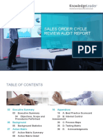 Sales Order Cycle Review Report