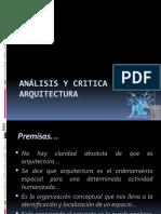 Análisis y critica en arquitectura