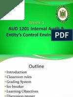 Week1 AUD1201-IA & Entitys Cntrl Environment