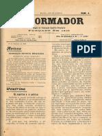 REFORMADOR fev de 1908  Os espiritas e a politica 1