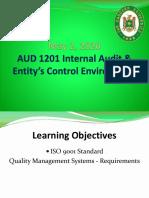 Week 15&16 - May 2&9, ISO 9001