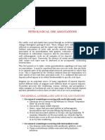 Petrologic Ore Associations