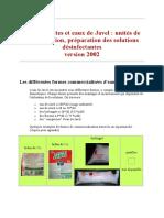 Hypochlorites et eaux de Javel