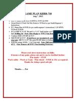 GAME PLAN Retrieve Whipstock  Mill BP