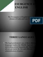 The Resurgence of English