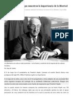 18 citas de Hayek que muestran la importancia de la libertad
